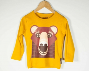 Tee-shirt enfant manches longues Ours Brun